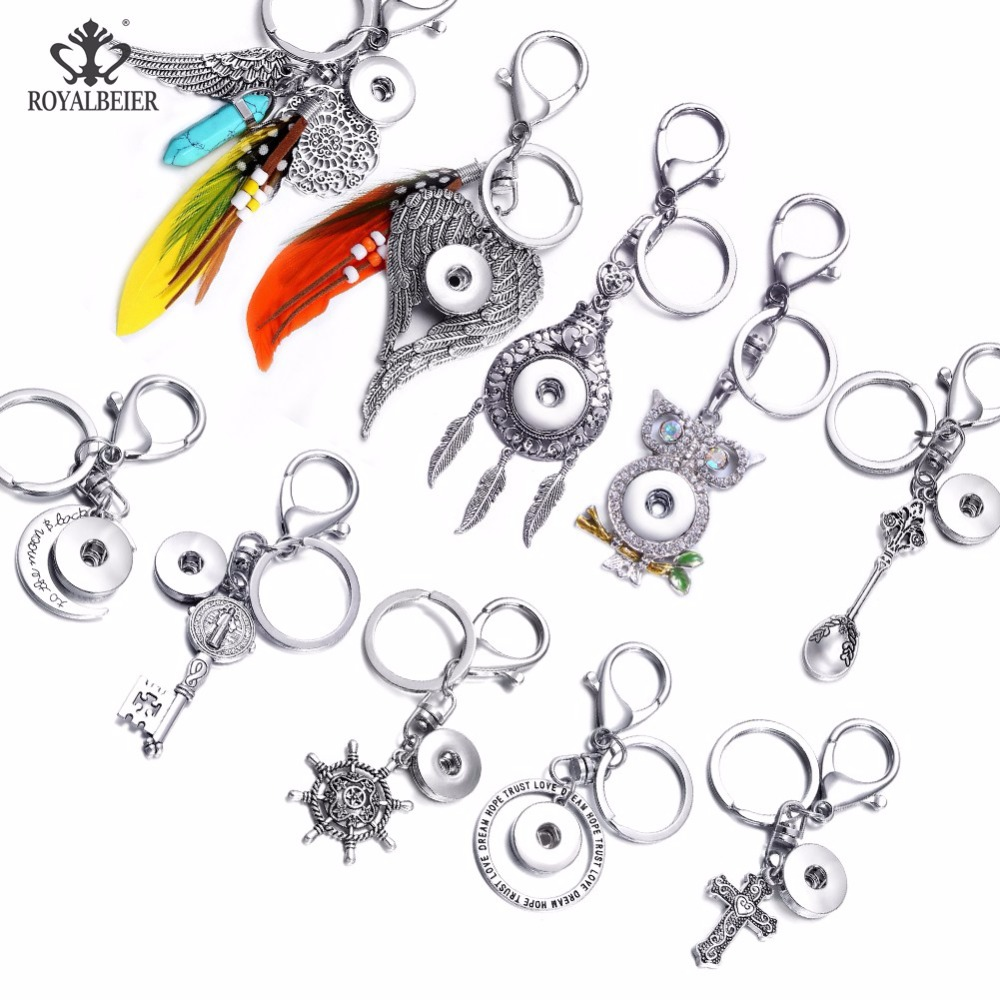 5PCS New Silver Metal Key Chain Ring Harry Potter Death Hallows Keyring Keychain