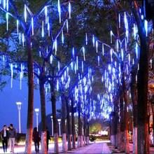 30CM 90-280V LED Christmas Lights Outdoor Meteor Shower Rain Tubes Wedding Party Snowfall Tree Garden Xmas String Light EU