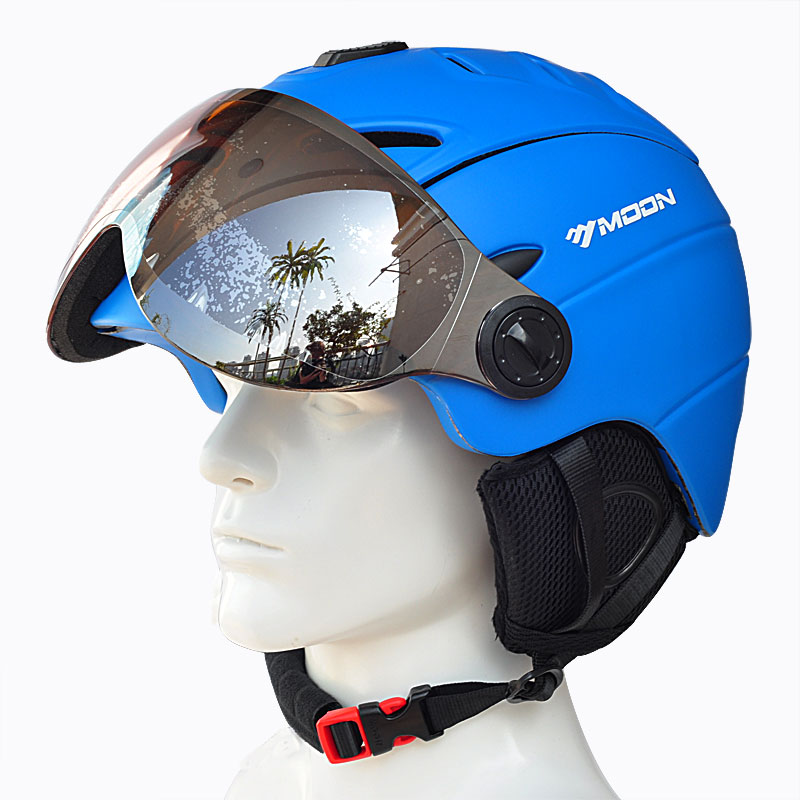 LUNE Professionnel Semi-couverte Certification CE casque de ski Moulée Intégralement en Plein Air Sport Casques + Snowboard Lunettes Masque