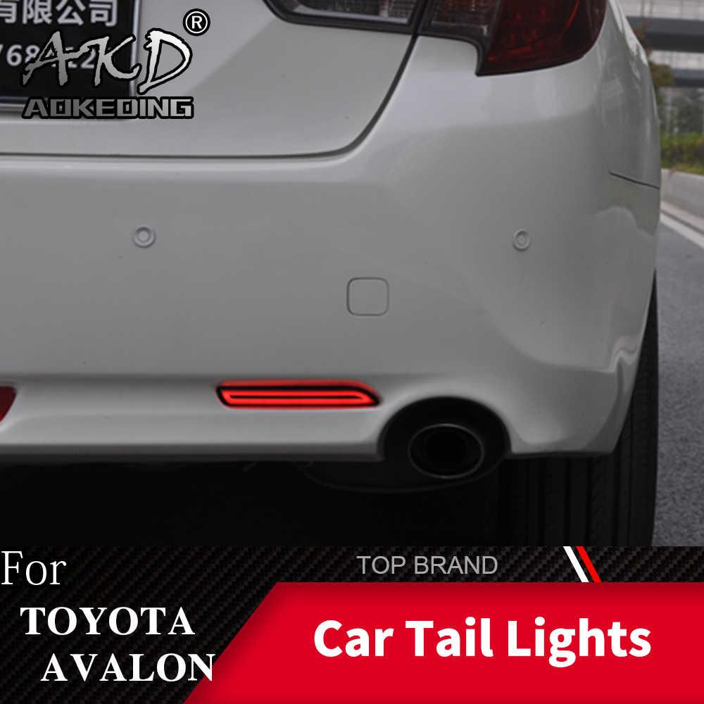 AKD 2PCS LED Rear Fog Lamp For Toyota Avalon 2013 2014 2015 2016 Bumper Light LED Brake Light Reflector Warning Light