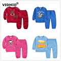 1-5Y Boy's clothing sets Baby Sets fleece boy tracksuits Kids sport suits for girls cartoon christmas sweatshirts+pants 1014 02