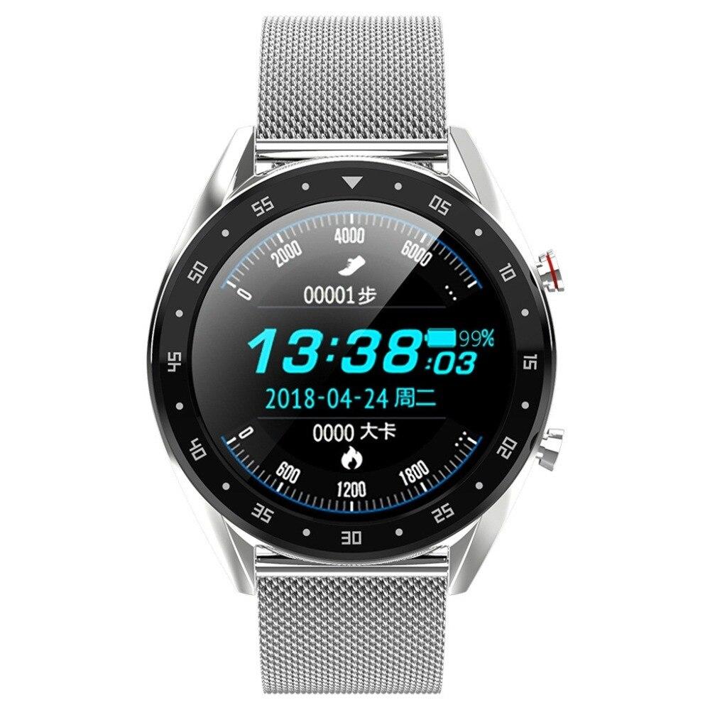 Montre intelligente élégante Smartwatch de luxe sur les femmes hommes unisexe podomètre activité Tracker moniteur de fréquence cardiaque Bluetooth poignet porter