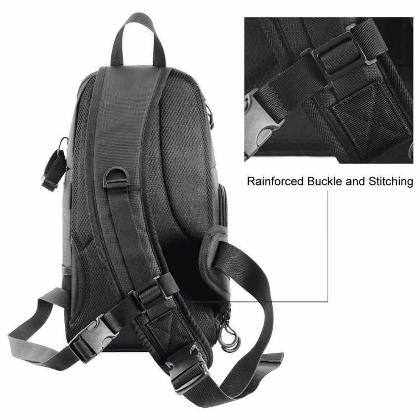 Фото камера сумка через плечо крест цифровой чехол водонепроницаемый w/дождевик DSLR мягкая мужская и женская сумка для Canon Nikon sony SLR