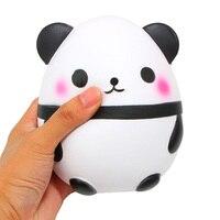 14CM Kids Panda Eggs Gag Joke Toys Cute White Slow Rising Squishy Toy Squeeze Phone Straps