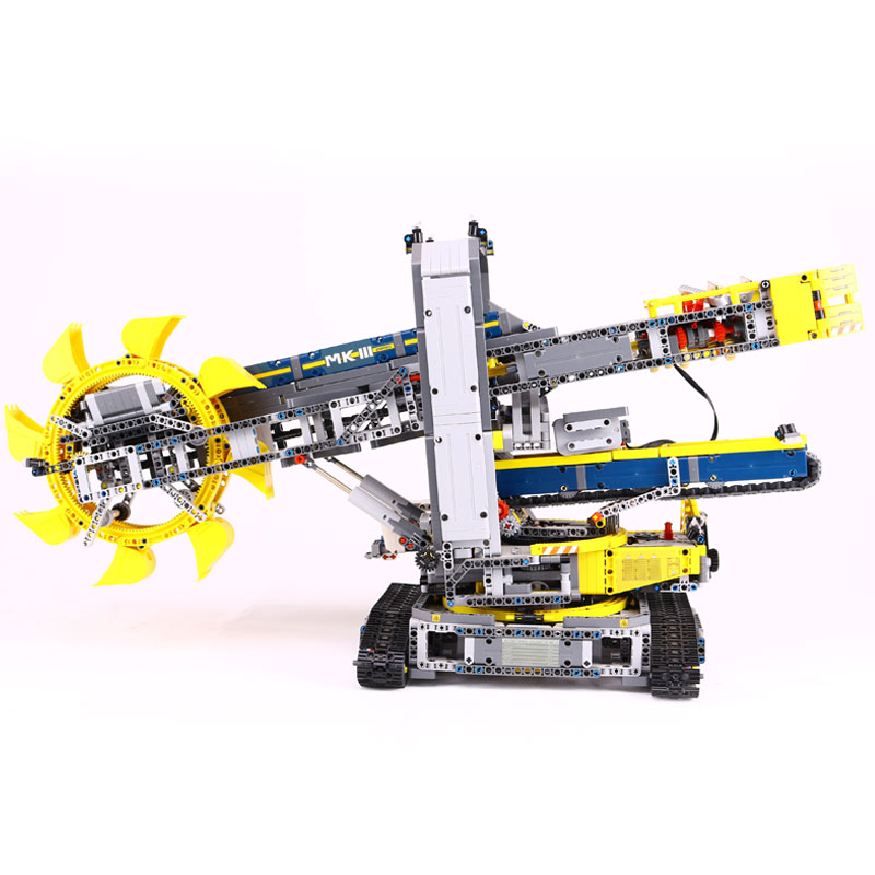 NEW LEPIN 20015 Technic series 3929Pcs Bucket wheel excavator Model Building blocks Bricks Compatible 42055 Toy Christmas Gift new lp2k series contactor lp2k06015 lp2k06015md lp2 k06015md 220v dc