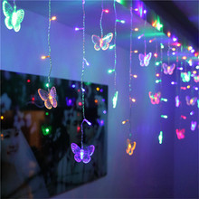 3.5M 96 LEDs Butterfly led string AC220V/AC110V Waterproof C