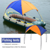 Inflatable Boat Kayak Accessories Fishing Sun Shade Tent Rain Canopy Kayak Kit Sailboat Awning Top Cover 2 4 person Boat Shelter