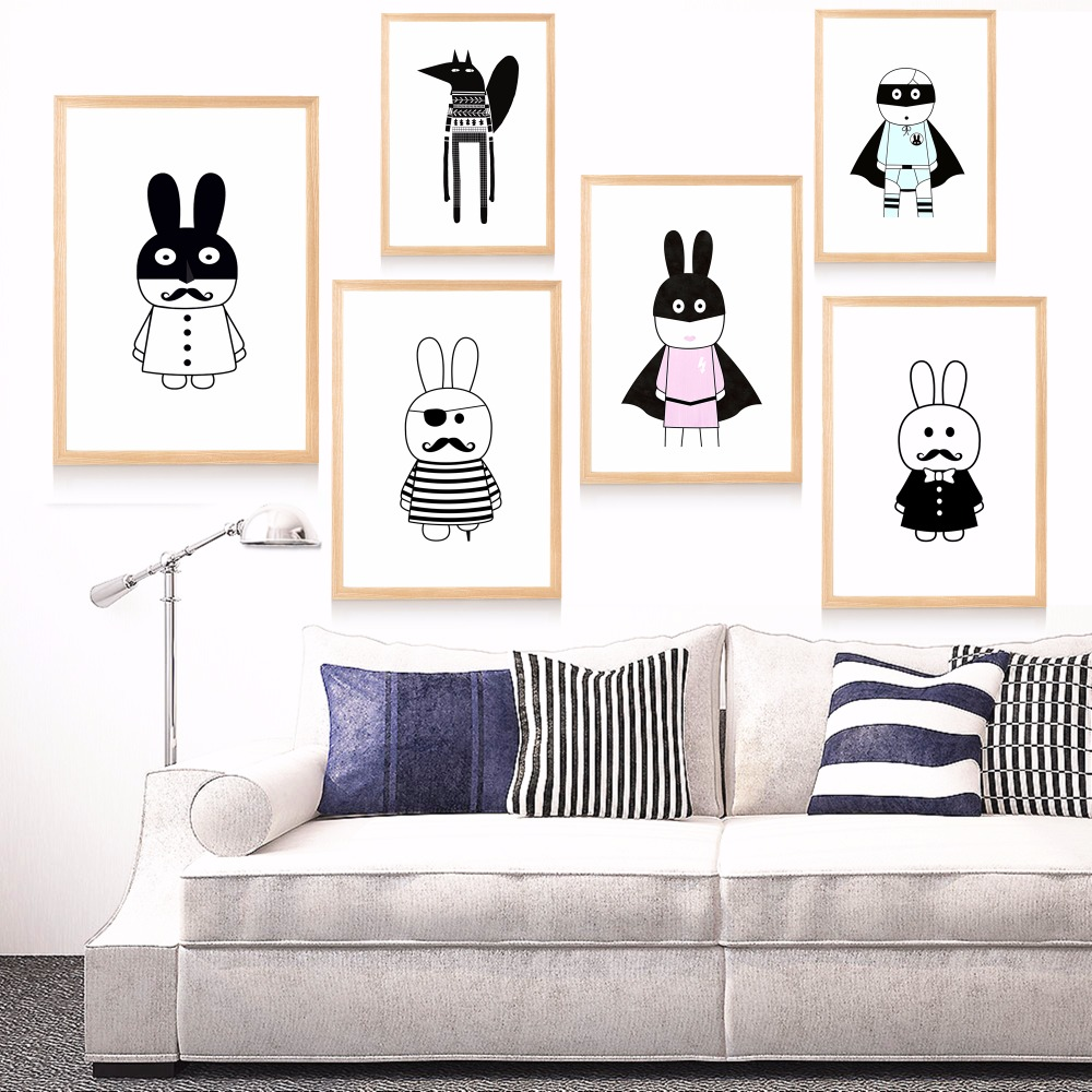 Aliexpress.com : Buy Super Rabbit Minimalist Canvas Art