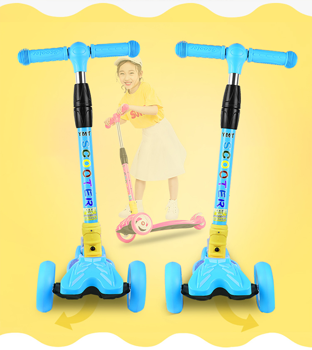 HTB1T78kXN rK1RkHFqDq6yJAFXau Children Kick Scooter Baby Foldable 3 Wheels LED Outdoor Sport 4-12 Years Old Adjustable Height Triciclo Bikes Toys Gift For Kid