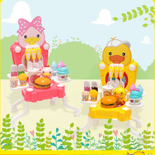 New Platypus Children's Kitchen Play House Portable Storage Tool Table Toy Set Children's Educational Toy Storage Table new arrival house kitchen series super high simulation kitchen suitcase kitchenware tool table play