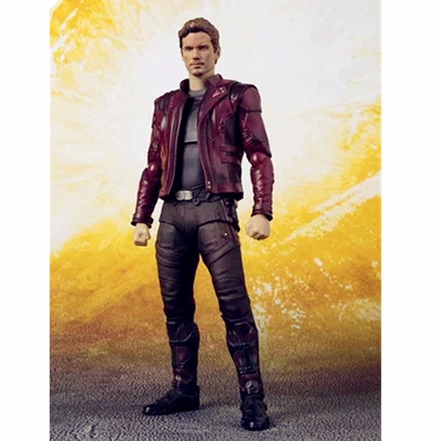8a11e8ee8 US $133.57 30% OFF Avengers:Infinity War Guardians Of The Galaxy Superhero  Peter Jason Quill Star Lord PVC Action Figure Model Toy G1118-in Action &  ...