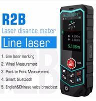 Mileseey R2B Laser Rangefinder Laser Range Finder Tape Measure Roulette with Wheel Laser Line level