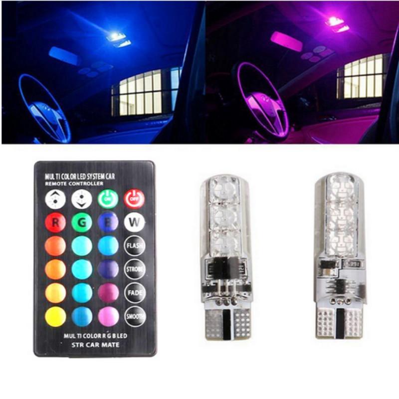 T10 LED RGB W5W CANBUS Car Clearance Packing Light For Nissan Qashqai j11 Juke X-trail T32 Tiida Note Almera Primera Pathfinder