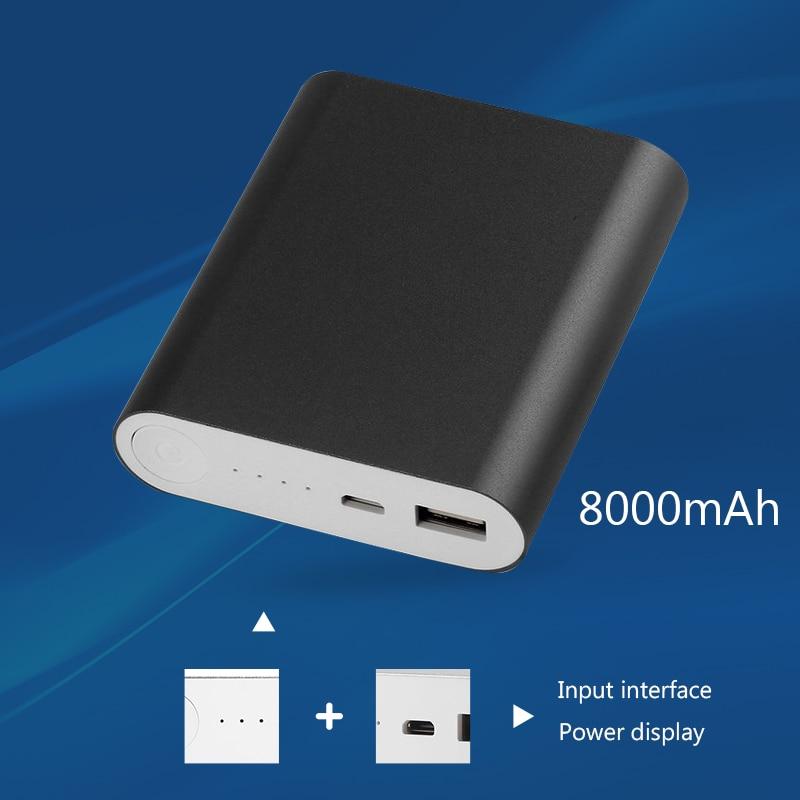 imágenes para Capacidad Nominal 10400 mAh Capacidad Real Banco Portable Universal 8000 mAh Batería Externa Más Rápido de Carga Para El Teléfono Móvil