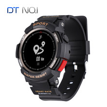 Original No.1 F6 Smartwatch IP68 Waterproof Bluetooth 4.0 Dynamic Heart Rate Monitor Smart watch For Android Apple Smart Phone(China)