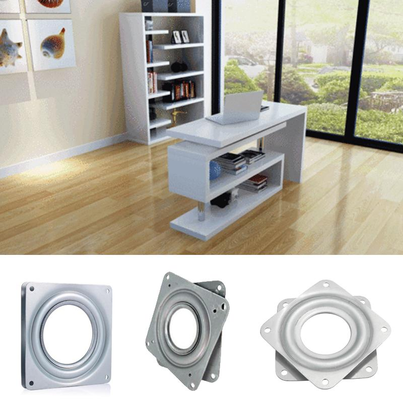 Cewaal Metal Bearing 360 Degrees Rotating Swivel Turntable Plate TV Rack Holder Desk 3 P ...