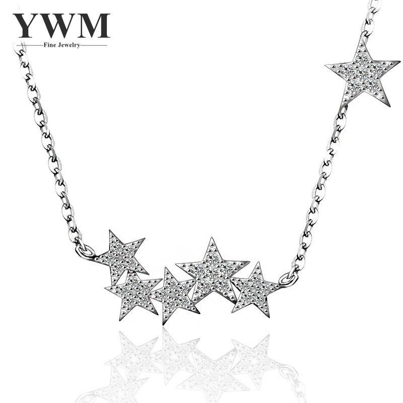 YWM 925 серебро метеорный поток Цепочки и ожерелья Jewelry звезды себе Цепочки и ожерелья корейский Модные украшения для Для женщин best подарок