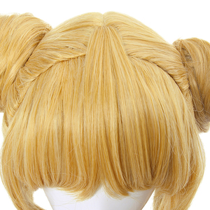 Image 5 - L email wig Sailor Moon Cosplay Wigs Super Long Blonde Wigs with Buns Heat Resistant Synthetic Hair Cosplay Wig Halloween