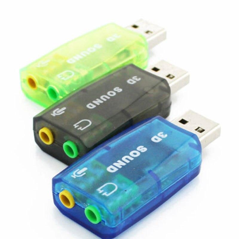 Sıcak Satış usb kulaklık adaptörü Ses Adaptörü 3D Ses kartı 5.1 USB 3.5mm usb adaptörü Için mic kulaklık Jakı Stereo