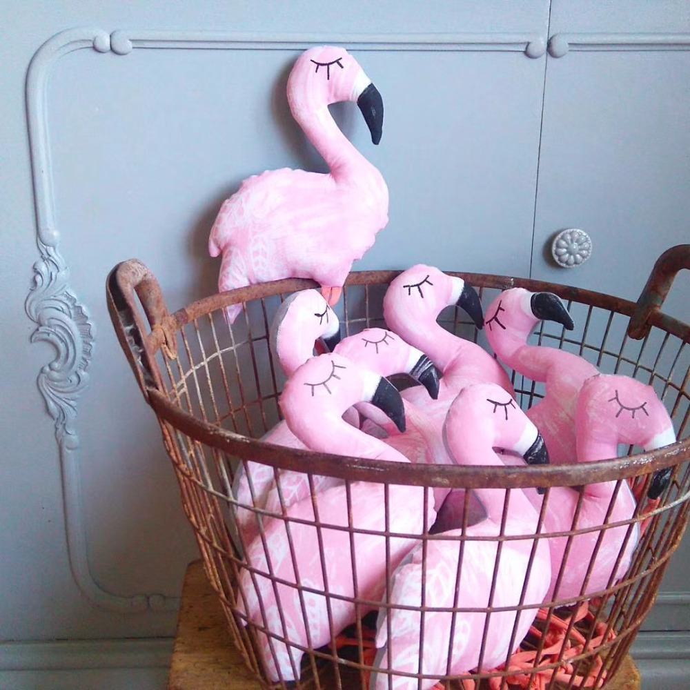 INS Stuffed Flamingo Toys Girls Soft Comfort Dolls Pink Flamingo Toys Kids Room Decor Baby Comfort Toys Christmas Gifts flamingo swan lovely golden crown swan flamingo wall art 3d girl pink goose swan doll stuffed toy animal dolls kids toys