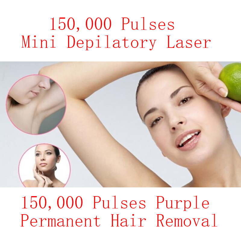Electric Laser Hair Epilator Depilador Permanent Hair Removal Device Purple  Laser Machine Home 150000 Light Pulses Lamp Bikini rebune mini painless ipl permanent hair removal laser hair epilator depilador 120000 pulses home bikini lightsheer beauty device