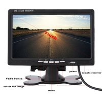 After the car monitor, the LCD screen is preferred to support multi language auto parts 7 inch TFT LCD bracket desktop monitor