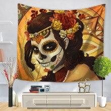 RUBIHOME Hanging Wall Tapestry 3D Design Skull Horror Sky Home Decor Beach  Towel Throw Rug Blanket 4b10c4f89597