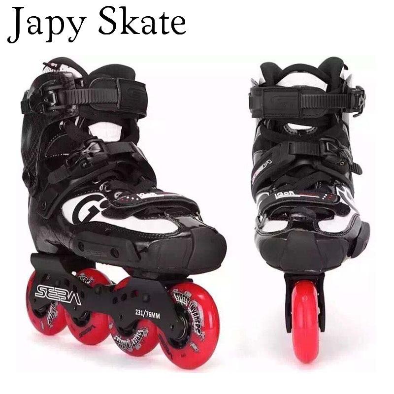 100 Original SEBA IGOR 10th Professional Adult Inline Skates Carbon Fiber Shoes Slalom Slide Free Skating
