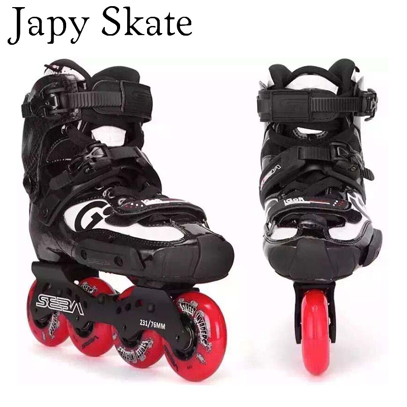 Prix pour Jus japy Skate D'origine 2016 SEBA IGOR 10e Professionnel Adulte Patins À Roues Alignées Chaussures En Fiber De Carbone Glisser Livraison De Patinage de Slalom Patins