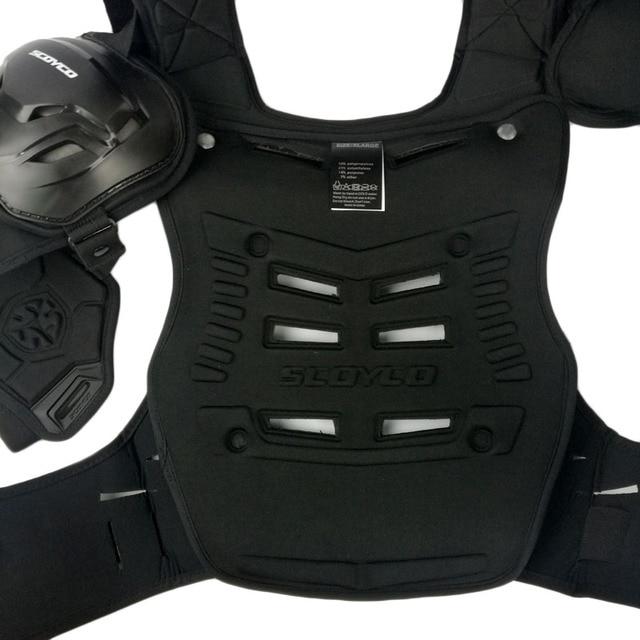 SCOYCO Motorcycles Motocross Chest Back Protector Armadura Vest Racing Protective Body Guard MX Armor Black A-07 4