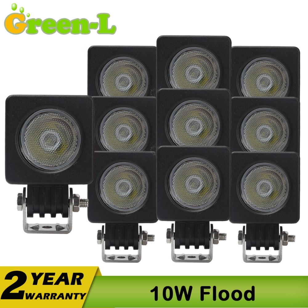 110W car auto led work light tractor truck offroad off road working lights fog driving cree chip 10W for atuv jeep