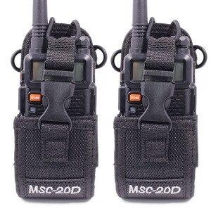 Image 1 - 2Pcs MSC 20D Nylon Multi Funktion Tasche Tasche Holster Tragen Fall für BaoFeng UV 5R UV 82 TYT Mototrola Walkie Talkie