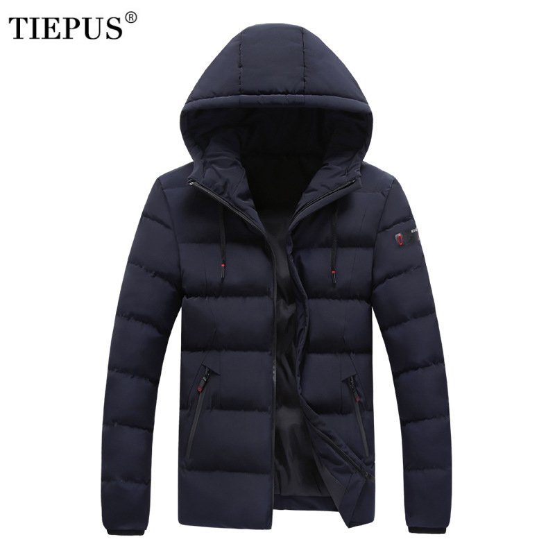 TIEPUS New Winter Jacket Men Slim Coat Overcoat Super Warm Thicken   Parka   Plus Size 7XL,8XL Hooded Jackets Men's Casual Outwear