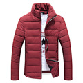 Hot sale free shipping men winter jacket cotton padded stand collar thick outwear men's coat