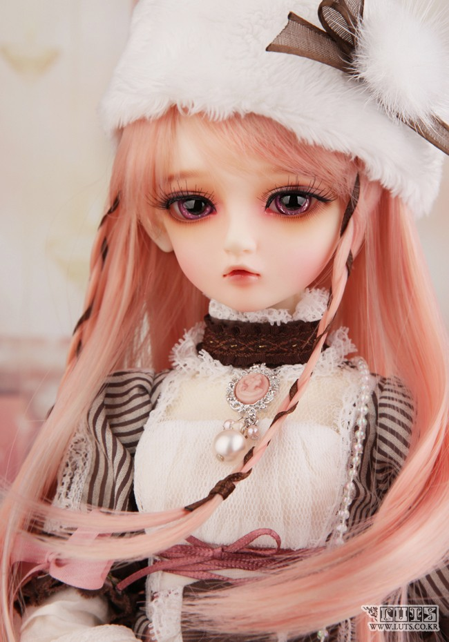 Luodoll BJD sd doll baby girl luts salgoo 1/4 bjd sd doll baby girl (free eyes + free make up) 1 4 bjd dollfie girl doll parts single head include make up shang nai in stock