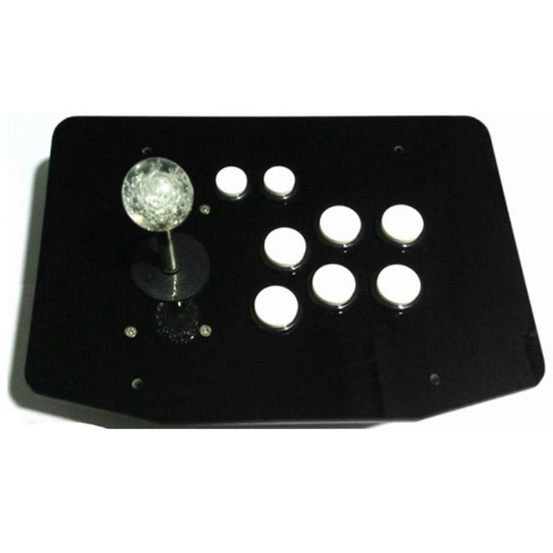 Pannello acrilico di alta qualità PC computer USB arcade joystick gamepad game controller joypad, plug and play Crystal Blue