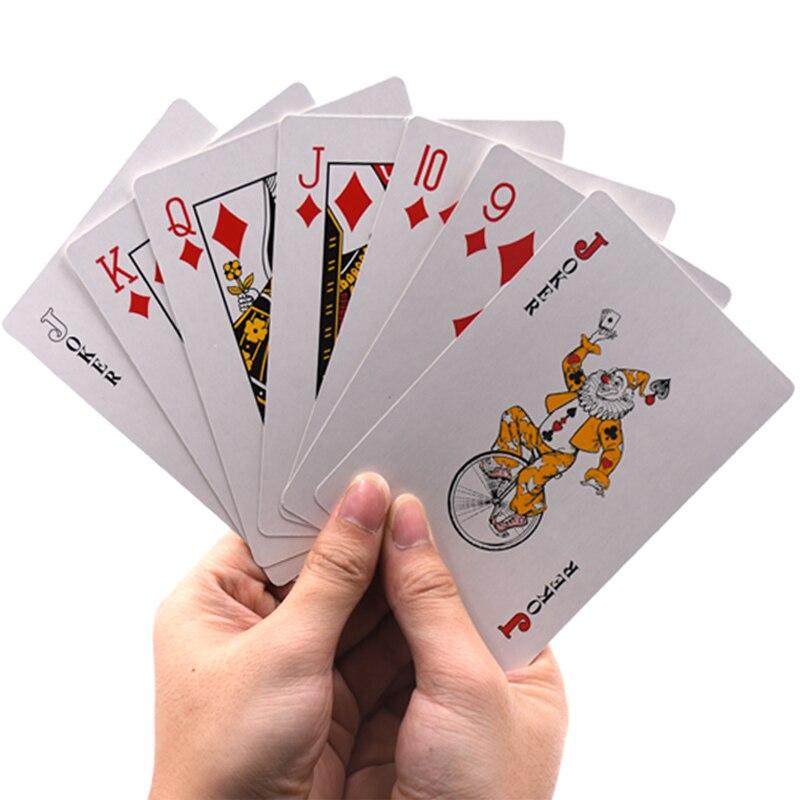 Jumbo Карточные игры более Размеры D для игры в покер Азартные игры очень большой Размеры 2/4/9 раз нормальный размеры Развлечения для удовольст...