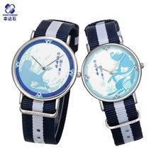 Любители Кварцевые часы Китай аниме модель пара Часы Водонепроницаемый комиксов подарок ко Дню Святого Валентина