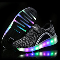 NEW Children Roller Shoes With LED Lighted Fashion Breathable One Wheel Kids Sneakers Boy & Girls Sport Wheel Shoes