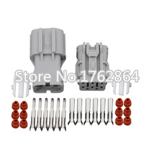 5 sets DJ7061Y-2-11/21  6 pin car socket Car Electrical waterproof electrical plug connector taillights Headlight assembly