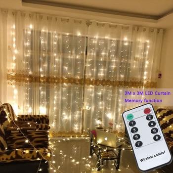 4510e28321f 3x3 m 300 led luces de la secuencia de hadas boda jardín fiesta led cortina  decoración Navidad guirnaldas de cadena de luz led de las luces de  decoración
