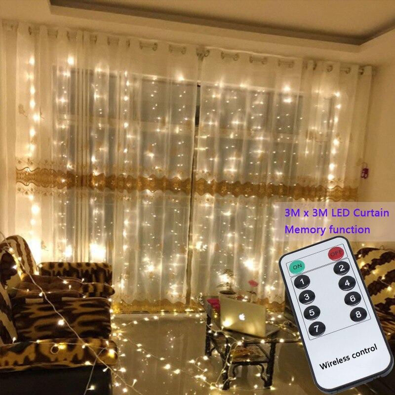3x3 mt 300 led string fairy lichter Hochzeit garten party led vorhang Decor Weihnachten Girlanden licht string led lichter Dekoration