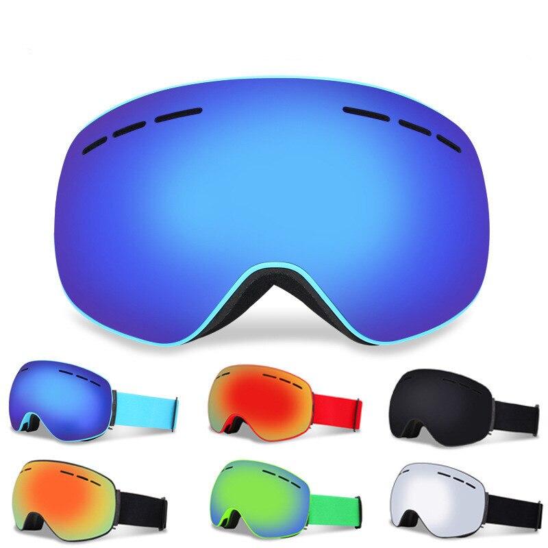 Magnétique Ski Lunettes Double Couches UV400 Anti-brouillard Big Ski Masque de Neige Lunettes de Ski Lunettes Hommes Femmes Ski Snowboard lunettes