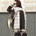 Bufandas de invierno para las mujeres 2016 de Punto de Algodón traje de invierno Espesar Las Mujeres Foulard Bufandas de La Marca Bufanda Del Mantón de Las Señoras Soft Comfort