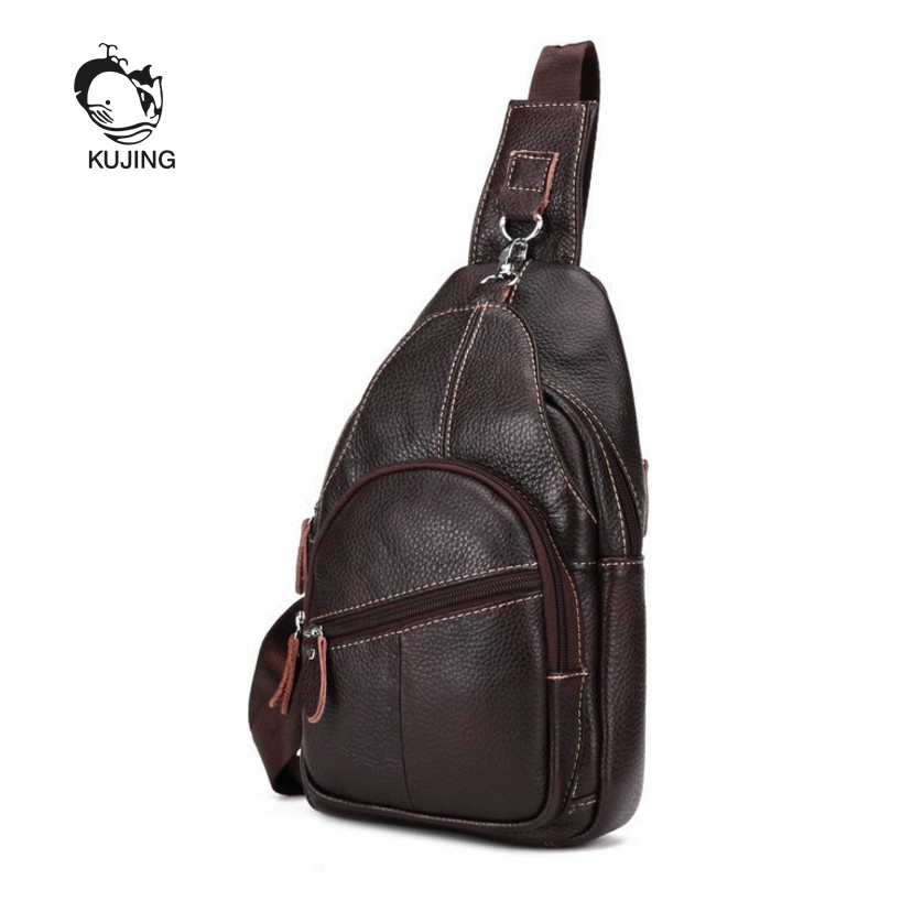 KUJING2017 leather men's bag hot trend men's shoulder Messenger bag cheap high-end luxury leather bag men travel leisure package prius brand men s casual package high end fashion 2017 new men s package shoulder bag men messenger bag shoulder bag