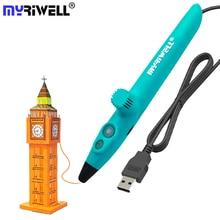2019 New Myriwell 3D Printing Pens RP 200A USB Low Temperature 3D Doodle Pen with PCL