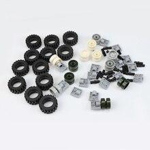 66 шт., серия Technic, мини колеса, обода, упаковка, автомобильные шины, соединения, модель, строительные блоки, обучающие игрушки для детей, подарок, Legoingse