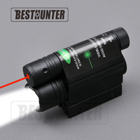 NEW Hunting Optics Tactical LED Pistol Flashlight Red Green Laser Combo Handgun Sight 200 Lumens Weapon