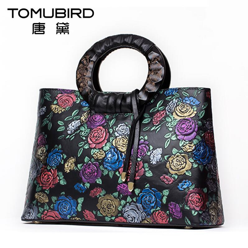 TOMUBIRD Superior cowhide Floral Collection Womens Genuine Leather Handle Handbag Tote with Adjustable Shoulder StrapTOMUBIRD Superior cowhide Floral Collection Womens Genuine Leather Handle Handbag Tote with Adjustable Shoulder Strap