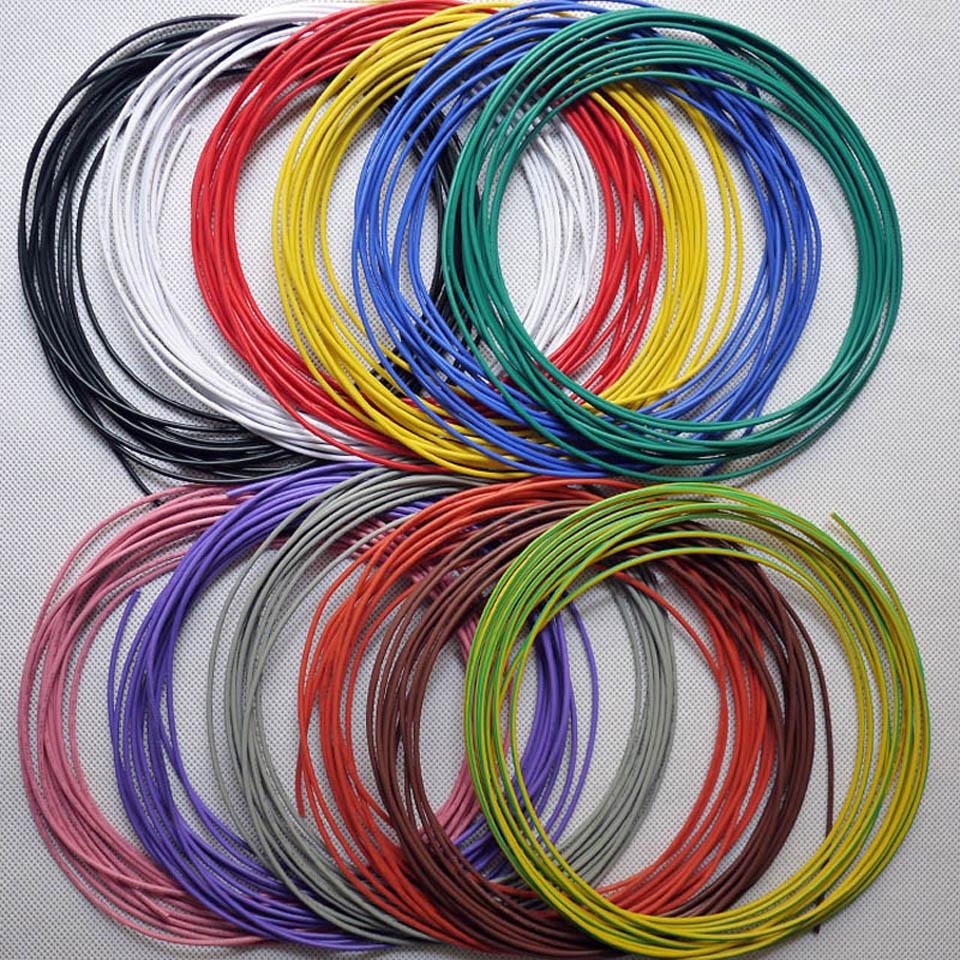 5 м/лот, av0.2мм Луженый одножильный жесткий провод 30awg тонкий провод ПВХ изолированный провод электрический кабель ОК провод Перемычка провод...